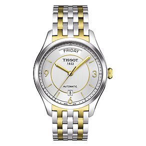 Tissot T-One men's automatic two colour bracelet watch - Product number 6764819