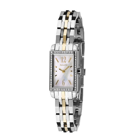 accurist ladies mother of pearl bracelet watch product image
