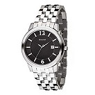 Accurist men's black dial stainless steel bracelet watch - Product number 6780695