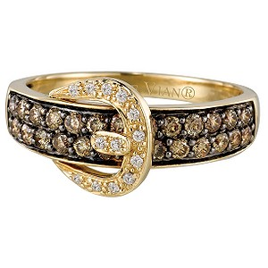 LeVian 14CT Gold Two Third Carat Chocolate Diamond Ring - Product number 6784356