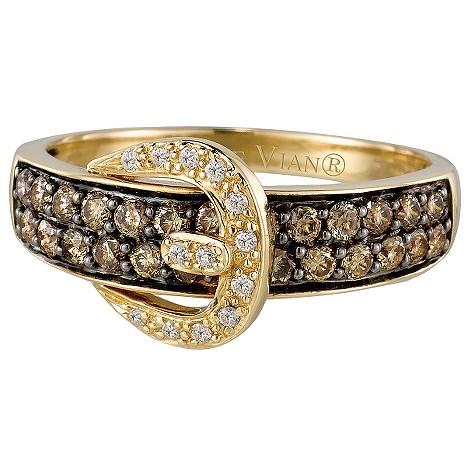 LeVian 14CT Gold Two Third Carat Chocolate Diamond Ring