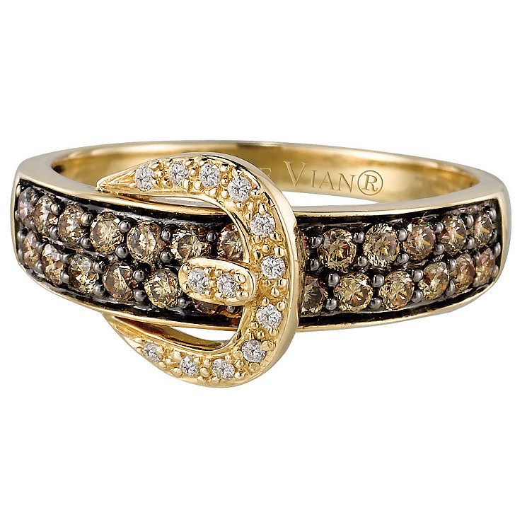 Le Vian 14CT Gold Two Third Carat Chocolate Diamond Ring - Product number 6784356