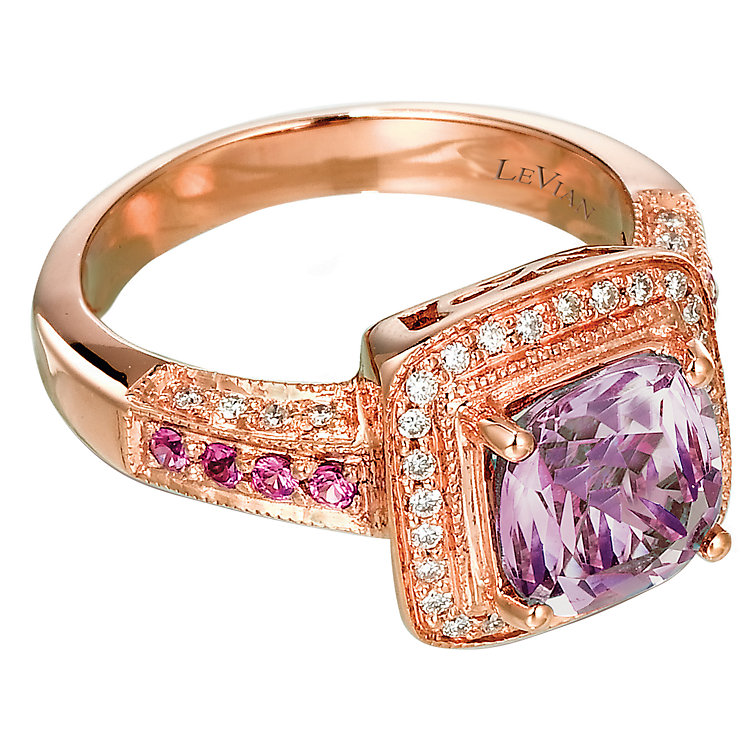 Le Vian 14CT Strawberry Gold® 0.20CT Diamond & Amethyst Ring - Product number 6784615