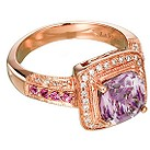 LeVian 14CT Strawberry Gold 0.20CT Diamond & Amethyst Ring - Product number 6784615