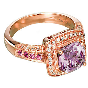 Le Vian 14CT Strawberry Gold 0.20CT Diamond & Amethyst Ring - Product number 6784615