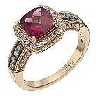 LeVian 14CT Strawberry Gold 0.33CT Diamond & Rhodalite Ring - Product number 6784747