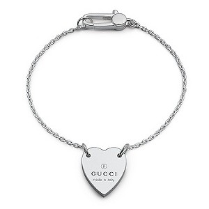 Gucci Trademark sterling silver heart bracelet 17cm - Product number 6793355