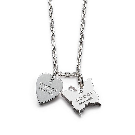 Necklace with engraved Gucci trademark