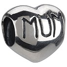Chamilia - sterling silver mum heart bead - Product number 6802915