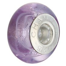 Chamilia - silver purple Murano glass bead - Product number 6805248