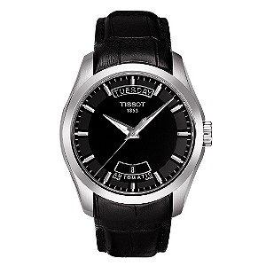 Tissot Couturier men's black dial strap watch - Product number 6805671
