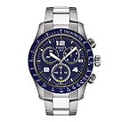 Tissot V8 men's blue dial chronograph bracelet watch - Product number 6805698