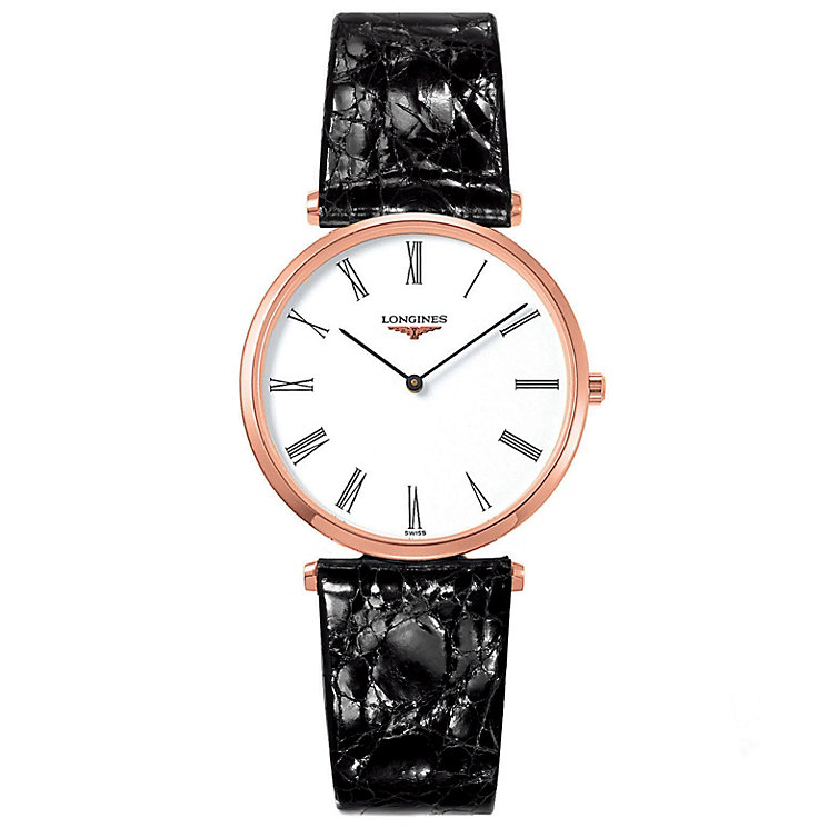 Longines La Grande Classique men's black strap watch - Product number 6806449