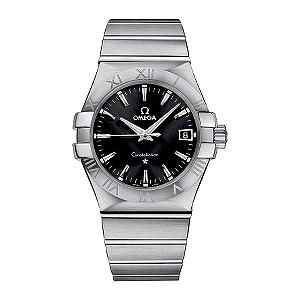 Omega Constellation men's black dial bracelet watch - Product number 6807054