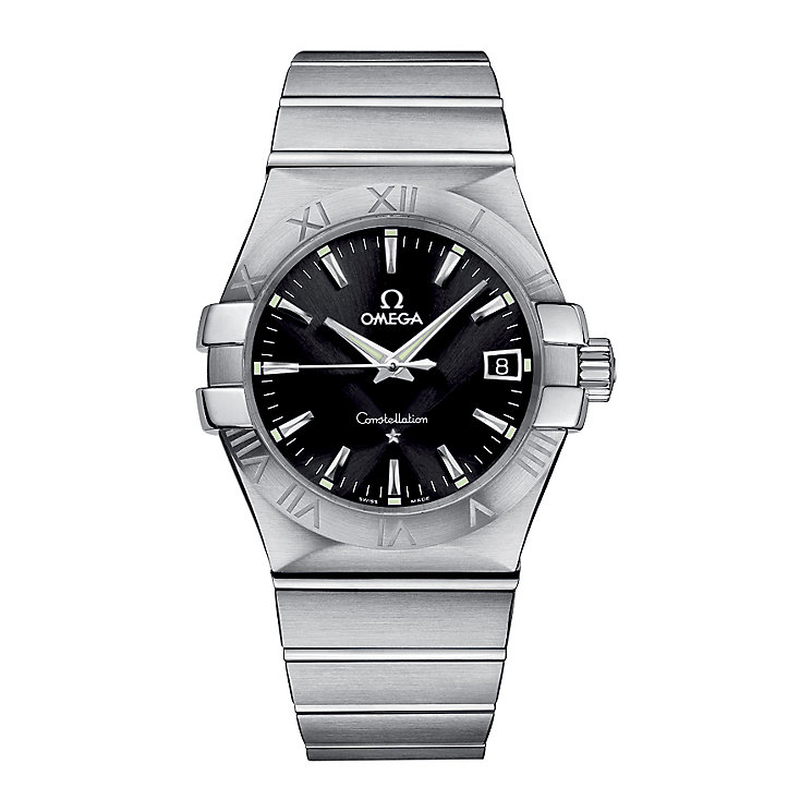 Omega Constellation men's black dial bracelet watch - Product number 6807054