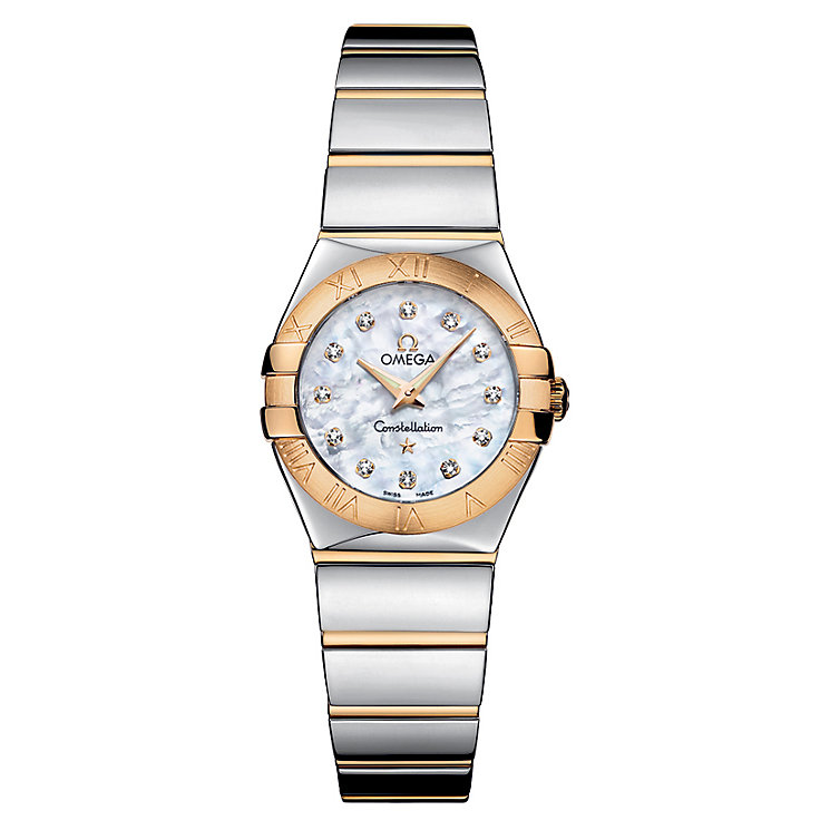 Omega Constellation ladies' two colour bracelet watch - Product number 6807089