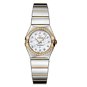 Omega Constellation ladies' two colour bracelet watch - Product number 6807097