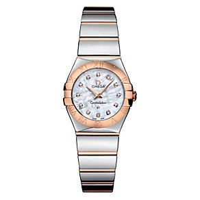 Omega Constellation ladies' two colour bracelet watch - Product number 6807100