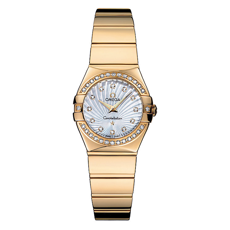 Omega Constellation Quartz ladies' 18ct gold bracelet watch - Product number 6807143