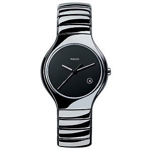 Rado True men's platinum colour ceramic watch - L - Product number 6807429