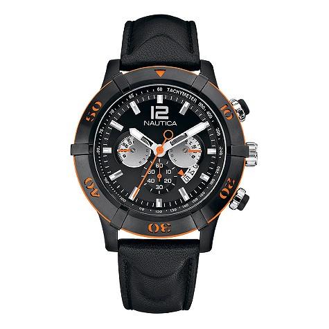 Nautica NCS 46 mens black dial chronograph product image