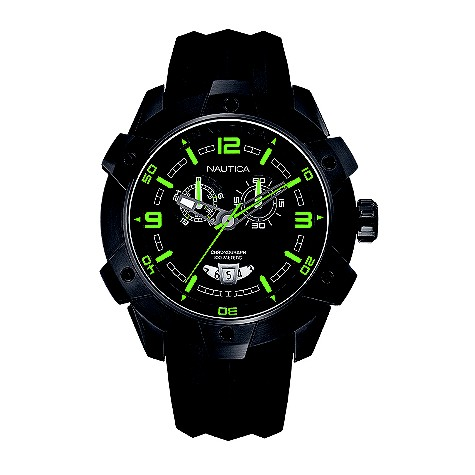 Nautica NST 100 mens black dial chronograph product image