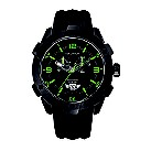 Nautica NST 100 men's black dial chronograph strap watch - Product number 6813666