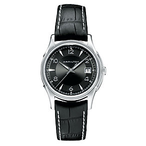 Hamilton Jazzmaster men's black strap watch - Product number 6818501