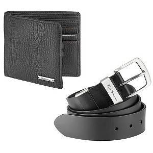 Mens Belt and Wallet Gift Set