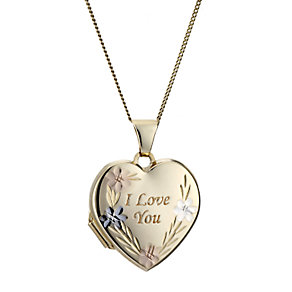 9ct Yellow Gold I Love You Locket - Product number 6838332