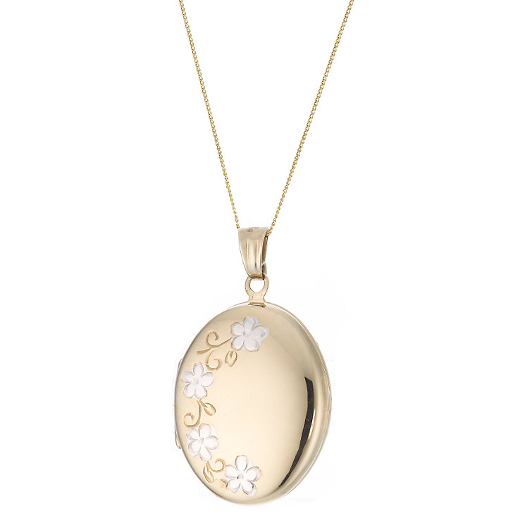 Rolled Gold Oval Locket