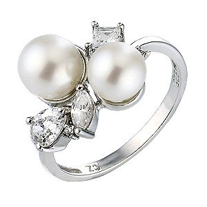 Sterling Silver Cultured Freshwater Pearl Ring - Large