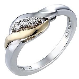 Duet 9ct Yellow Gold and Sterling Silver Ring - product image