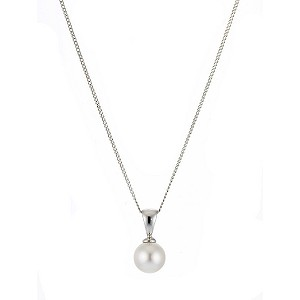 9ct white gold cultured freshwater pearl pendant - Product number 6840469