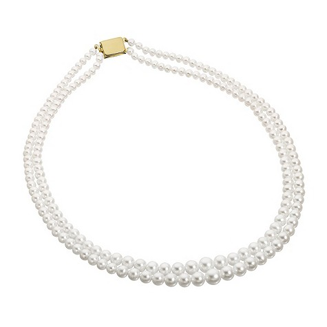 9ct yellow gold pearl necklace