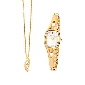 Accurist Ladies' Watch and Pendant gift Set - Product number 6842917
