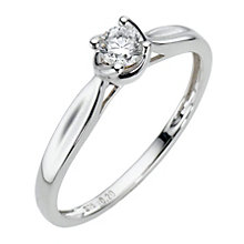 9ct White Gold  Fifth Carat Diamond Claw Set Ring - Product number 6845355