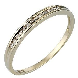 9ct Gold Channel Set Diamond Ring