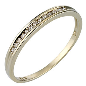 9ct Gold Channel Set Diamond Ring - Product number 6846661