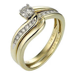 Perfect Fit 9ct Two Colour Gold Third Carat Diamond Ring