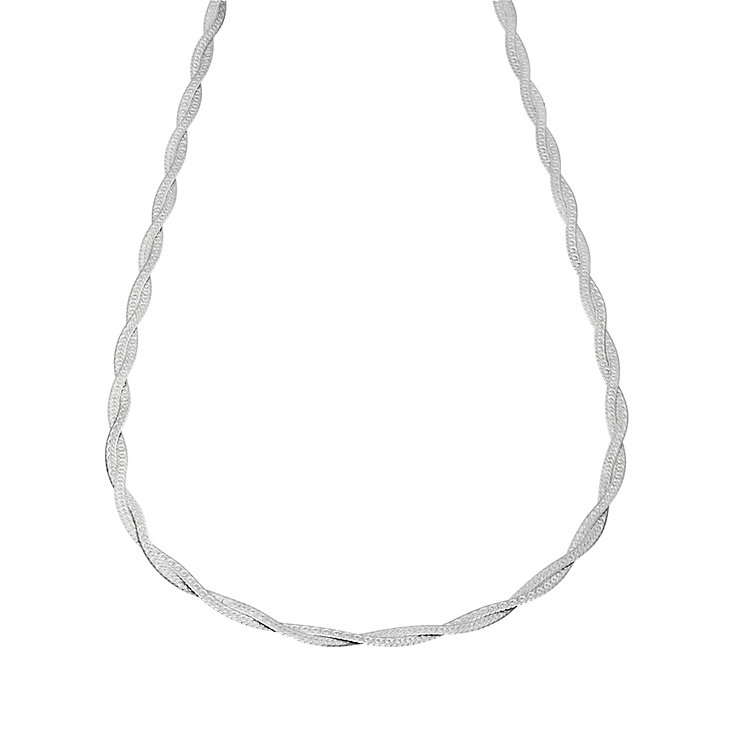 9ct White Gold Plaited Herringbone Chain - Product number 6854028