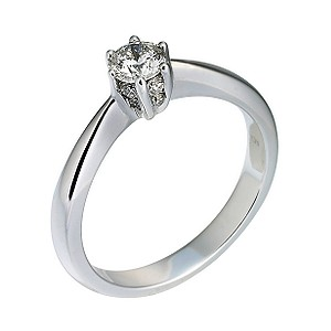 Facets of Love 18ct White Gold 0.36 Carat Diamond Ring