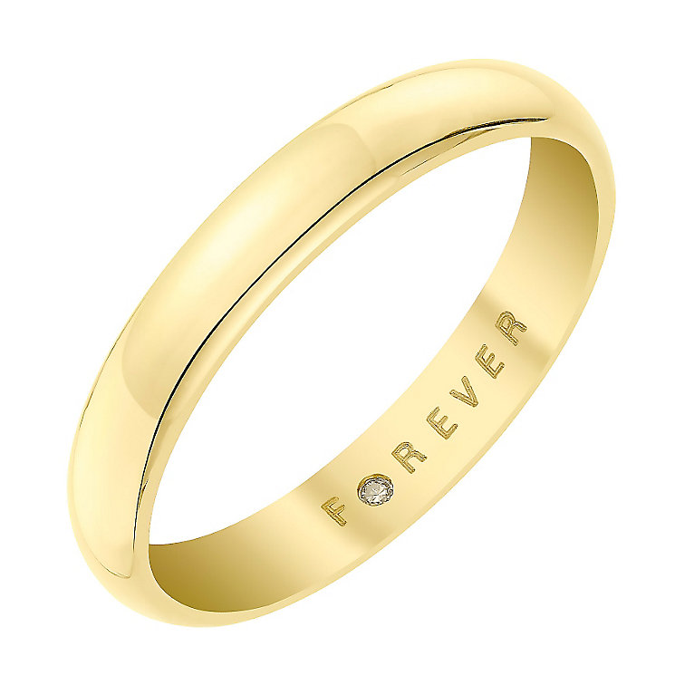 The Forever Diamond 18ct Yellow Gold 3MM Wedding Ring - Product number 6857981