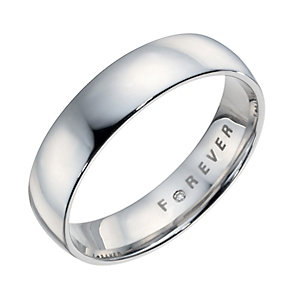 The Forever Diamond 18ct White Gold 5mm Wedding Ring - Product number 6858309