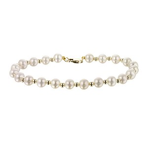 9ct gold cultured freshwater pearl bracelet - Product number 6862063