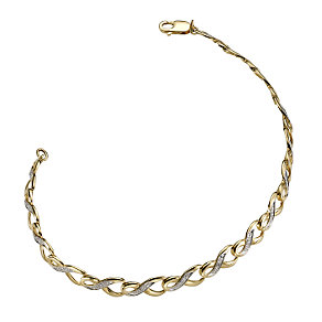 9ct gold diamond bracelet - Product number 6863167