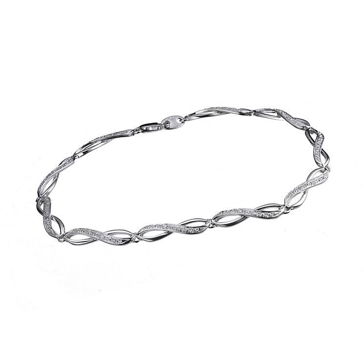9ct white gold diamond bracelet - Product number 6863183