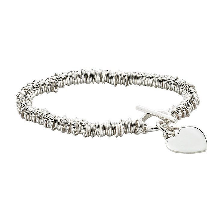 Silver candy heart charm bracelet - Product number 6882919