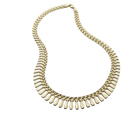 9ct gold collar necklace