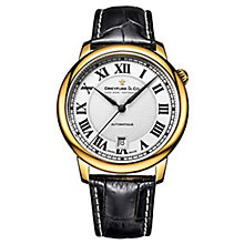 Dreyfuss & Co Men's Black Leather Strap Watch - Product number 6890156